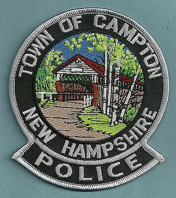 Campton New Hampshire Police Patch Covered Bridge!