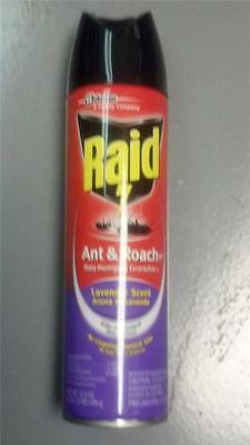 New Raid Ant & Roach Spray Lavender Scent Net Wt. 17.5 Oz Lot Of 3 Cans