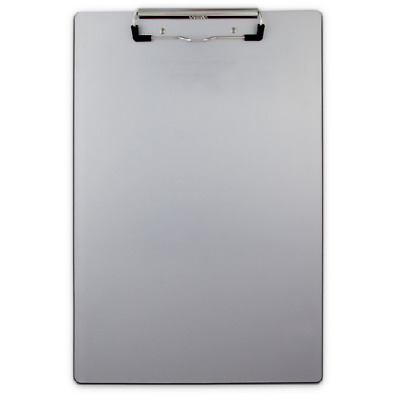 Saunders 21511 Aluminum Legal Size Clipboard Low Profile Clip w/ Rubber Grips