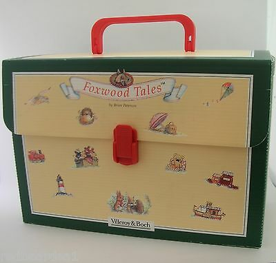 Villeroy & Boch Foxwood Tales Carry Case Presentation Gift Box 1990's