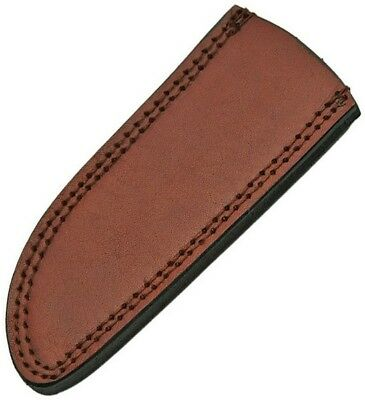 """Pakistan PA660709 Leather Sheath Brown Leather Fits 8-9"""" Drop Point Knife"""