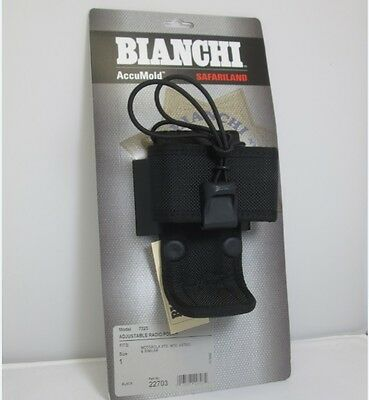 "Bianchi 7323 Adjustable Radio Pouch Black Size 1 - Fits Many 2.25"" Belts 22703"