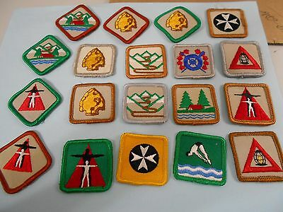 (Mx1-R)  Nineteen Various Scouts Canada Proficieny Badges  Canada Scout Badges