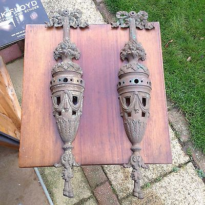 Vintage Rococo  Brass Wall  Fittings Shabby Chic  Fantastic!