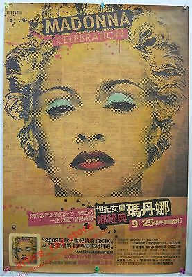 MADONNA Celebration Collection Taiwan Promo Poster NEW