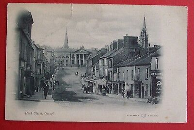 RELIABLE SERIES Postcard c.1900-02 HIGH STREET OMAGH Co.TYRONE NORTHERN IRELAND