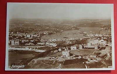 PHOTO PRECISION RP Postcard c.1950 AERIAL VIEW OF FALMOUTH CORNWALL