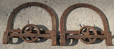 Antique Pair Of Barn Door Rollers Farm Find In Vt
