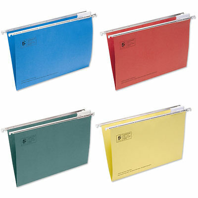 50 x Foolscap Suspension Files 4 Colours Available