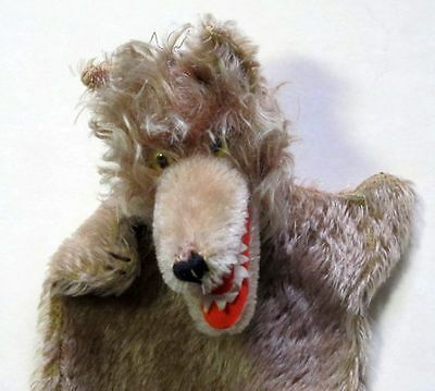 Rare Old Kersa Brown Mohair Wolf Puppet