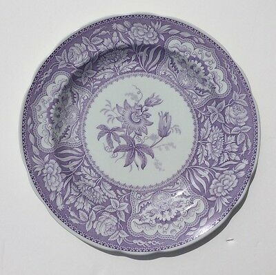 Spode Lavender Plate Georgian 'floral'  Passion Flower England Archive Series