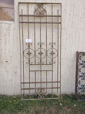 Antique Victorian Iron Gate Window Garden Fence Architectural Salvage #762