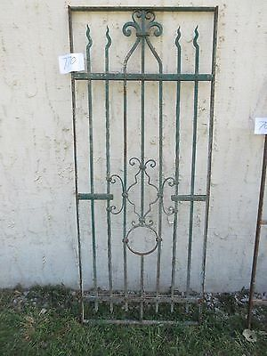 Antique Victorian Iron Gate Window Garden Fence Architectural Salvage #770