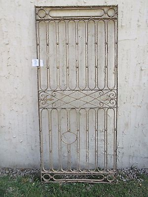 Antique Victorian Iron Gate Window Garden Fence Architectural Salvage #765