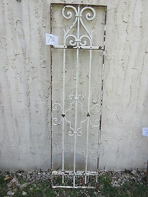 Antique Victorian Iron Gate Window Garden Fence Architectural Salvage #750