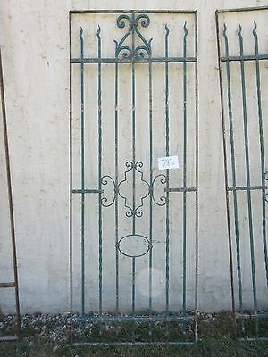 Antique Victorian Iron Gate Window Garden Fence Architectural Salvage #783