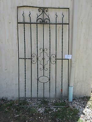 Antique Victorian Iron Gate Window Garden Fence Architectural Salvage #777
