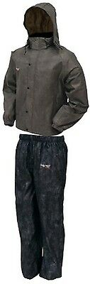 AS1310-105-S Frogg Toggs All Sports Rain Suit Stone/Black Small