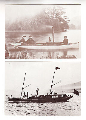 POSTCARD x 2: WINDERMERE STEAMBOAT MUSEUM - TWO STEAM VESSELS