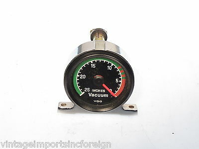 New Old Stock VDO Brand Vacuum Gauge Reads From 0-25 Inches  150.040