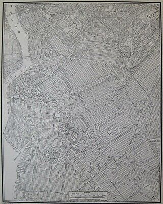 1941 Antique BROOKLYN Map Black and White Map of Brooklyn Gallery Wall Art 3220