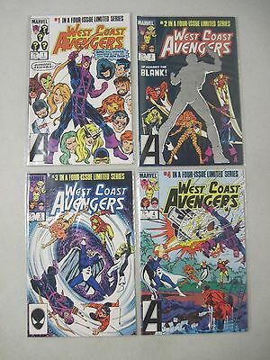 Complete Set Of West Coast Avengers #1-4 Marvel Limited Series 1984 Hawkeye