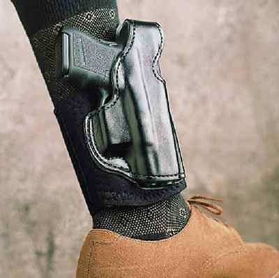 Desantis 014PC8BZ0 Die Hard Ankle Holster Fits Glock 43 Right Hand Black