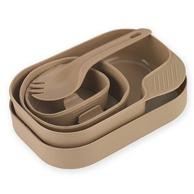"WILDO 21328 Camp-A-Box 6 Piece Set w/Spork - Tan 7.48"" x 5.12"" x 3.14"""