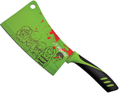 """Z-Hunter 148GZ Cleaver/Chopper 11""""Overall 6.5"""" Lime Green Blade w/Zombie Art"""