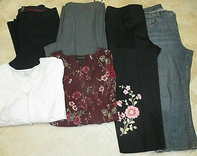 Lot Women's size 18/20, 4 pants,2 tops, Venezia,Lane Bryant, all in great shape