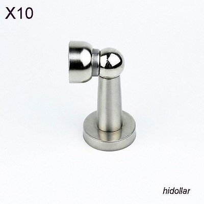 Stainless Steel Magnetic Door Stop Stopper Holder Catch 116G X10Pcs