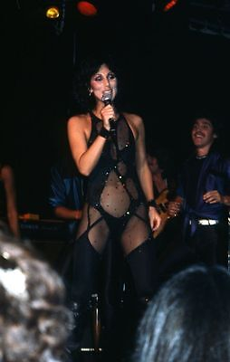 1970s CHER See-Through Outfit Original Slide Transparency GODDESS OF POP gp