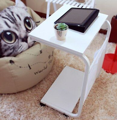 Mobile Bedside Trolley Table Laptop Ipad Study Hospital Desk Stand Coffee Table