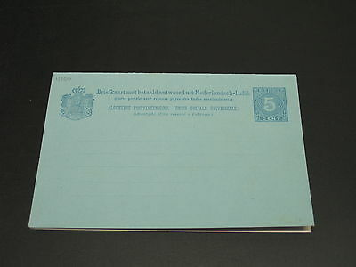 Netherlands Indies old mint double postal card *11100