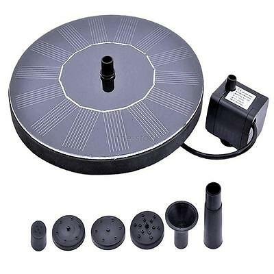 Solar Powered Water Panel Power For Pools Garden Ponds Fountain Pump Outdoor