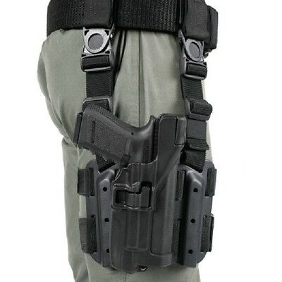 Blackhawk 430700BK-R Black RH SERPA Drop Leg Level 3 For Glock17/22/31 Holster