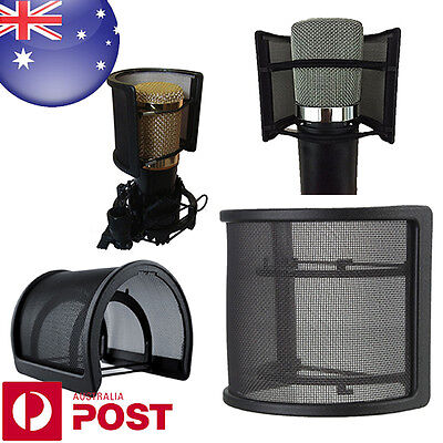 Dual Layer Recording Studio Microphone Mic Wind Screen Pop Filter Shield D149