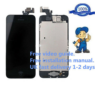 For Black iPhone 5 Full LCD Display Touch Screen Digitizer Assembly Replacement