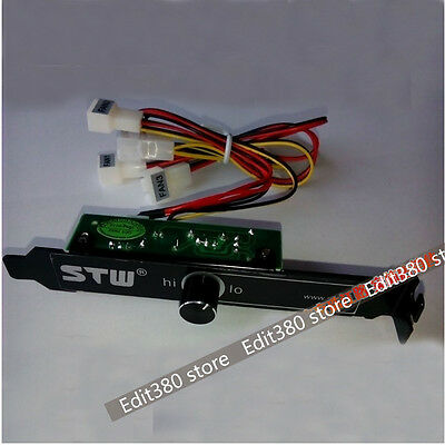 12V Speed Controller For  2 / 3 / 4 Pin PC CPU VGA Cooling Fan Pump PCI Control
