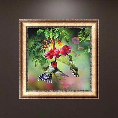 Flowers 5D Diamond Embroidery DIY Craft Painting Cross Stitch Mosaic Home Decor