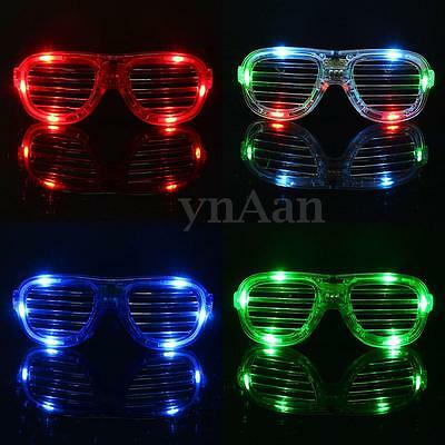 Luccicante LED Variopinto Occhiali Lampeggiante Carnevale Rave Party Gift Xmas