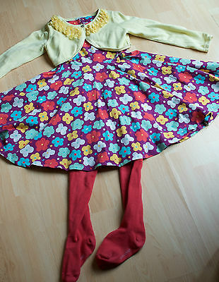 Polarn O.Pyret Monsoon girls outfits dress+top+tights 4-6 years *next day post*