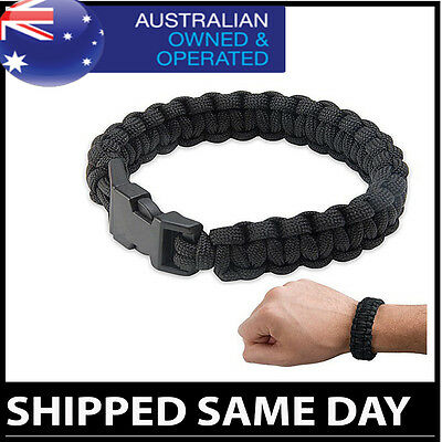 4 in 1 PARACORD SURVIVAL BRACELET Fire Starter - Whistle - Hiking Army Gear