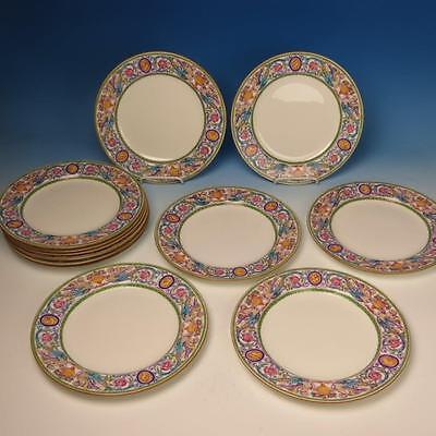 Minton China - Florentine B869 - Dragons & Cameo - 12 Dinner Plates - 10¼ inches