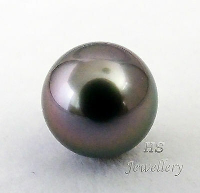 HS Rare Huge Round Loose Tahitian South Sea Cultured Pearl 13.72mm AAA Grading