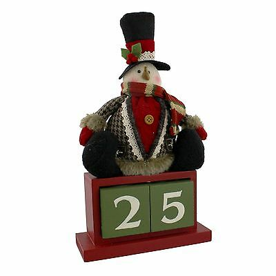 Traditionally Dressed Snowman Christmas Perpetual Calendar Decoration