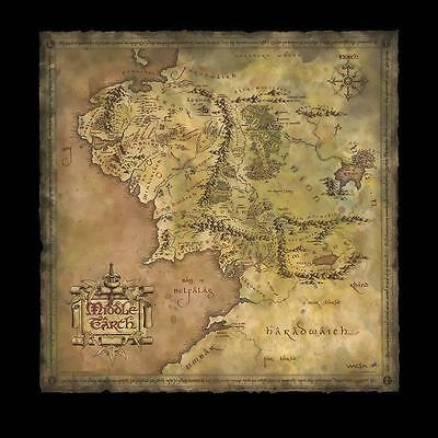 Parchment Map of Middle Earth. LotR, Hobbit. Official, Weta Collectables. New