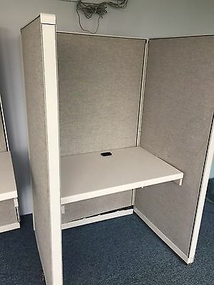 LOT OF 4 CALL CENTER/TELEMARKETERS CUBICLES/PARTITIONS by STEELCASE 9000