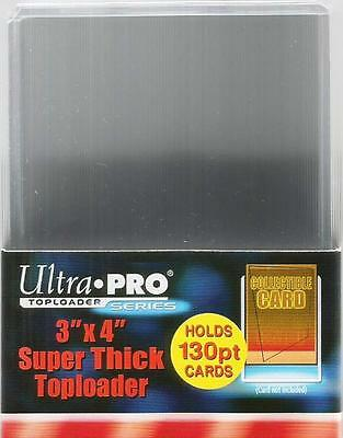 Ultra Pro Trading Card Pack of 10 Top Loaders 130pt Toploaders 76mm x 102mm