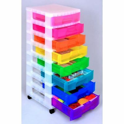 Really Useful Storage Tower 8x7 Litre Rainbow Drawers & Castors RRP £42.99